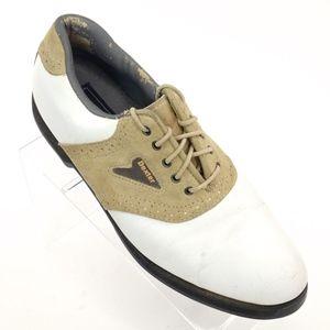 Dexter Jasper II Mens Golf Shoes 9.5 White Tan